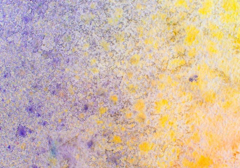 Abstrakt malujący akwareli tło na papierowej teksturze. ilustracji