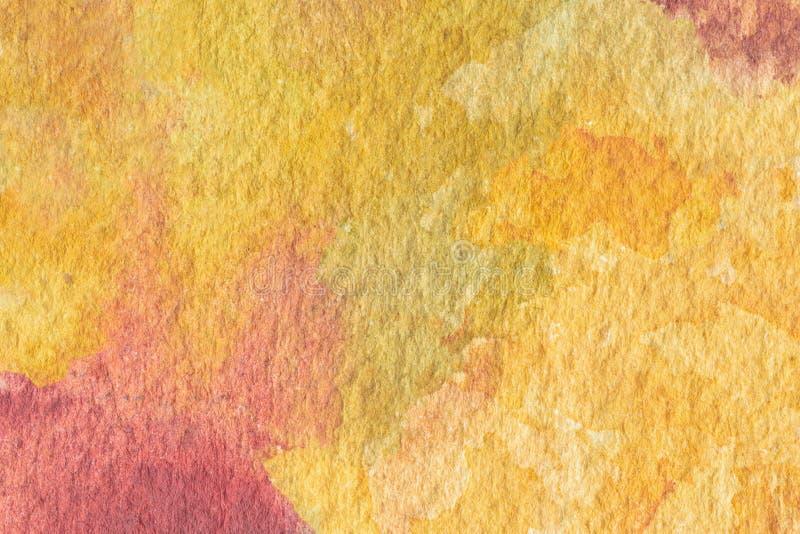 Abstrakt malujący akwareli tło na papierowej teksturze zdjęcie royalty free