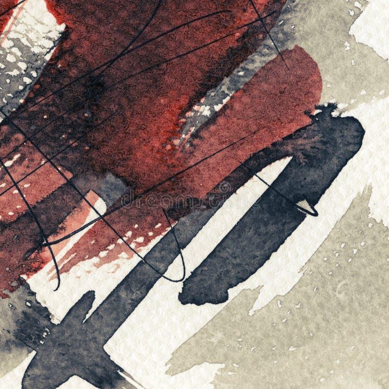 Abstrakt malujący grunge tło ilustracja wektor