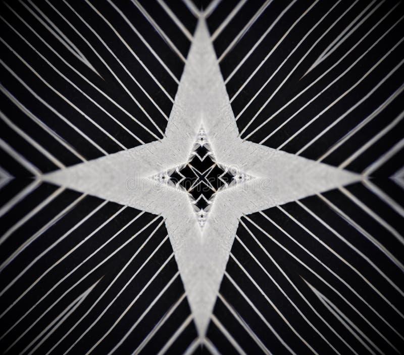 Abstrakt mandala 4 sid stjärnakorset royaltyfria bilder