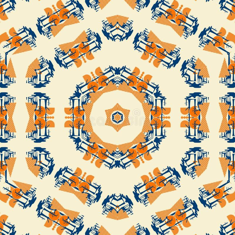 Abstrakt mandaladesignmall vektor illustrationer