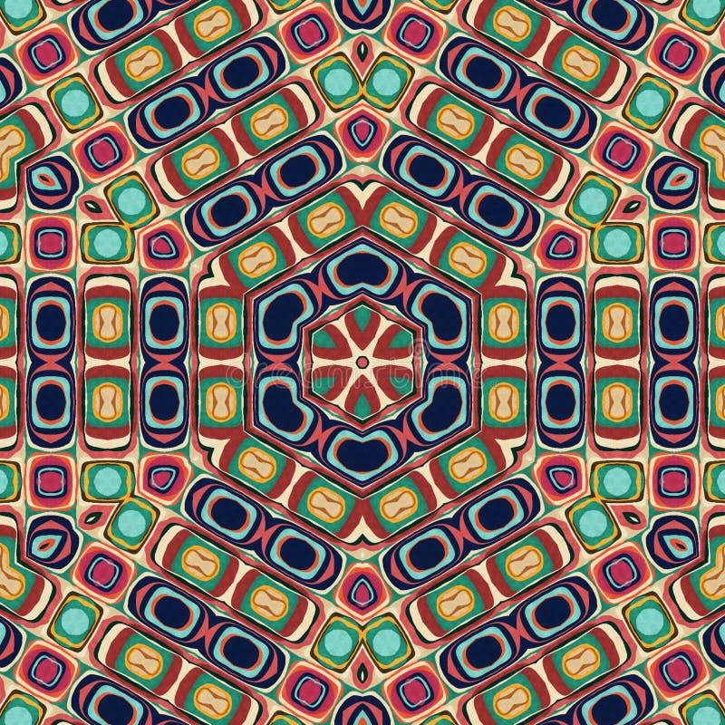 Abstrakt mandaladesignmall stock illustrationer
