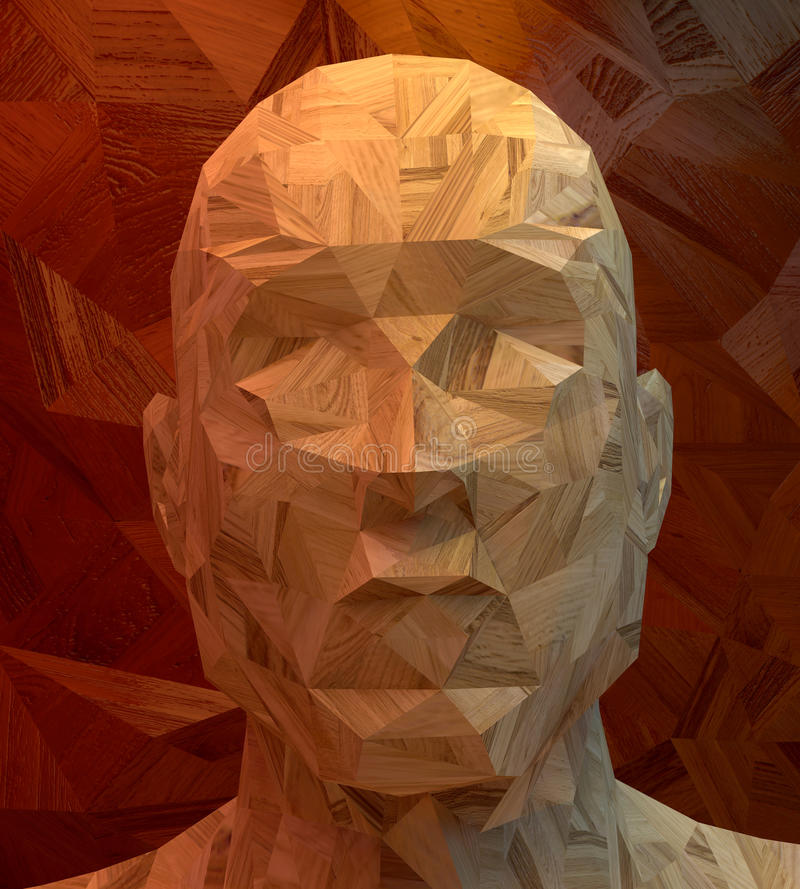 Abstrakt manhuvud vektor illustrationer