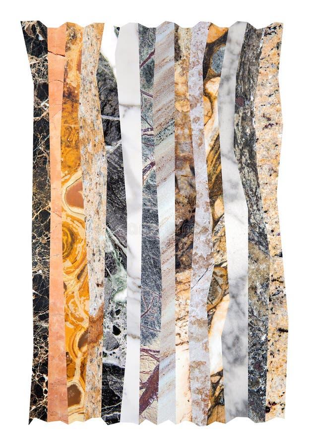 Abstrakt marmorcollage royaltyfri bild