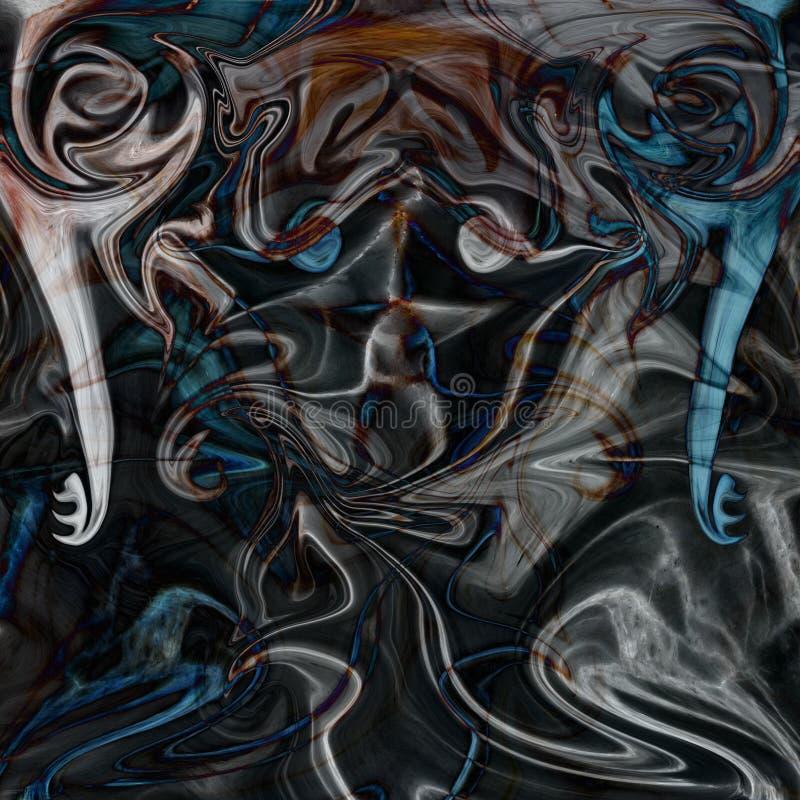 abstrakt marmortextur för kortdesign för bakgrund white för affisch för ogange för svart fractal för blomma god Handgjord te vektor illustrationer
