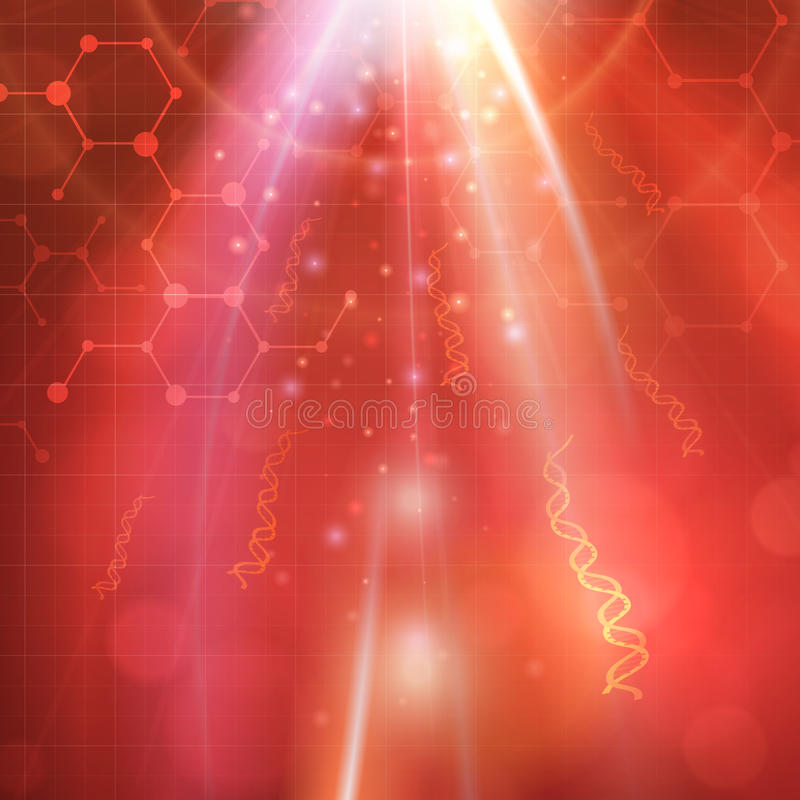 Abstrakt medicinsk DNAbioteknikbakgrund vektor illustrationer