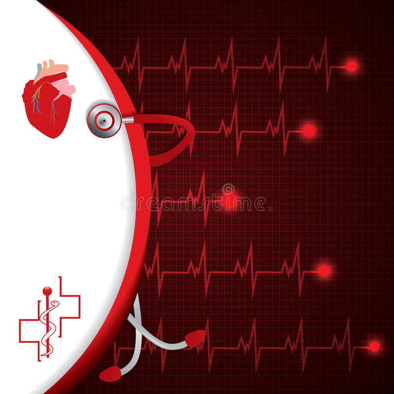 Abstrakt medicinsk kardiologiekg royaltyfri illustrationer