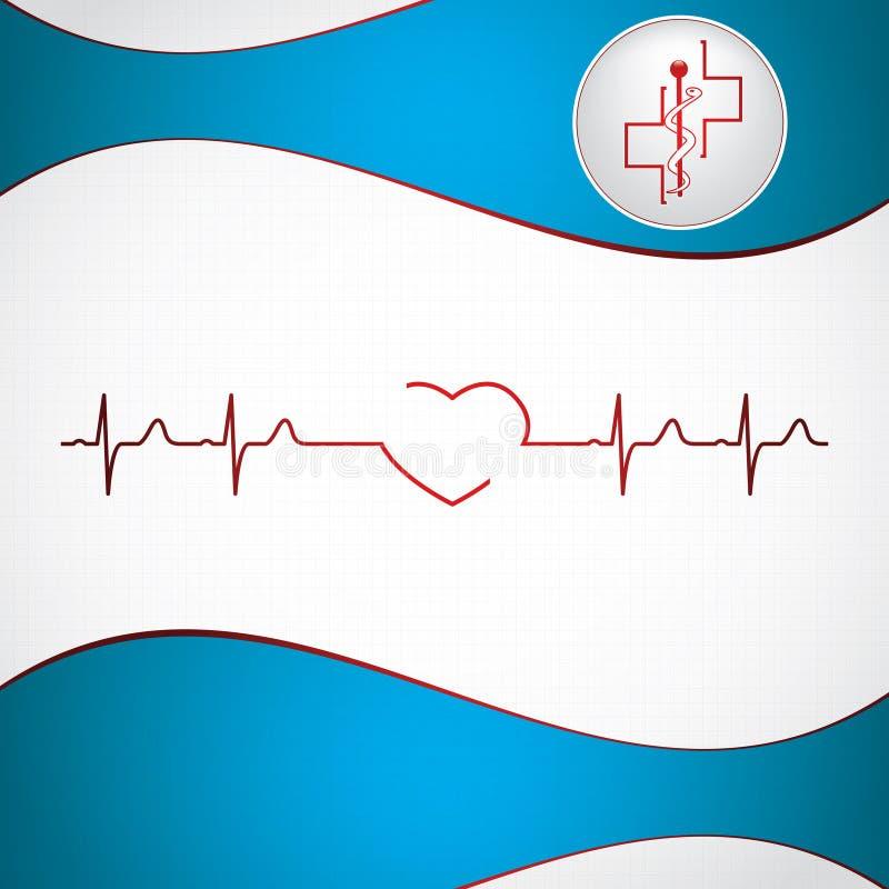 Abstrakt medicinsk kardiologiekg stock illustrationer