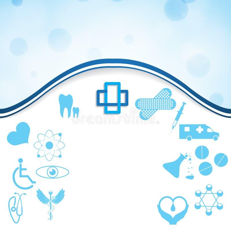 Abstrakt medicinsk uppsättning för rengöringsduksilversymboler royaltyfri illustrationer