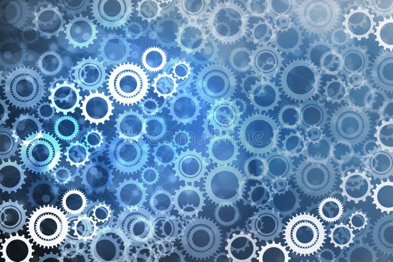 Abstrakt mekanism av kugghjul och kugghjulbakgrund, begrepp av teamwork royaltyfria foton