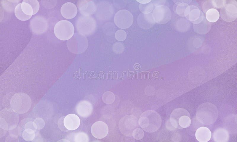 Abstrakt menchia, fiołek macha tło z białego bokeh lekkim skutkiem ilustracji