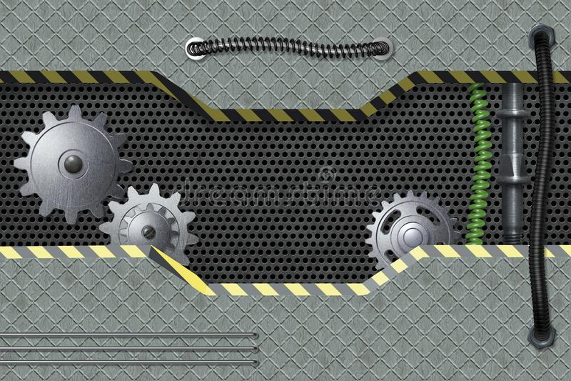 Abstrakt metall texturerade industriell bakgrund vektor illustrationer
