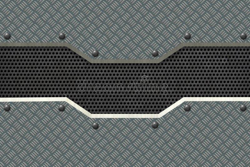 Abstrakt metall texturerade industriell bakgrund royaltyfri illustrationer