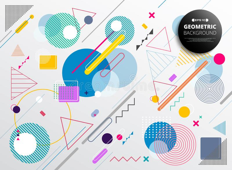 Abstrakt miękki szeroki kolorowy geometrical deseniowy tło royalty ilustracja