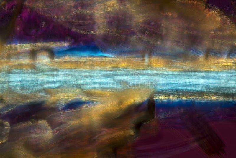Abstrakt micrograph av malvingen med bilden som liknar en varg, arkivbilder