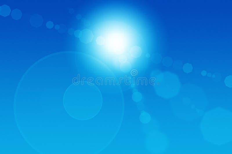 abstrakt migocze słońce ilustracji