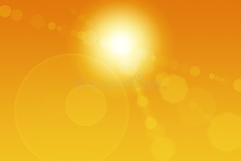 abstrakt migocze słońce royalty ilustracja