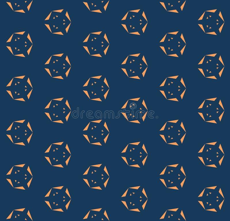 Abstrakt minimalist geometrisk sömlös modell med små triangulära former stock illustrationer