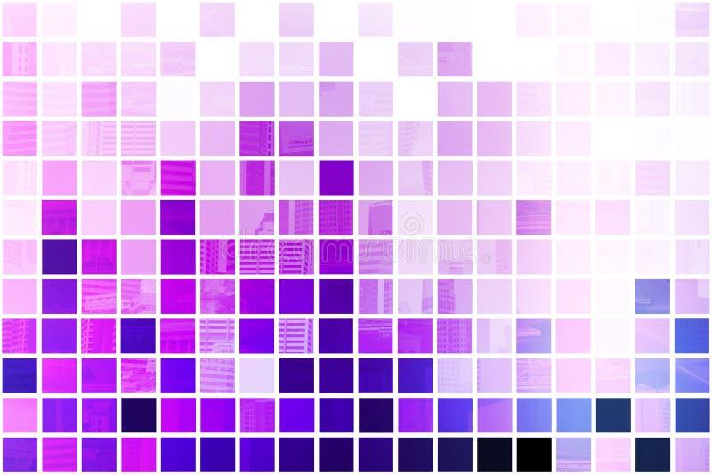 abstrakt minimalist purpurt alltför förenklat royaltyfri illustrationer