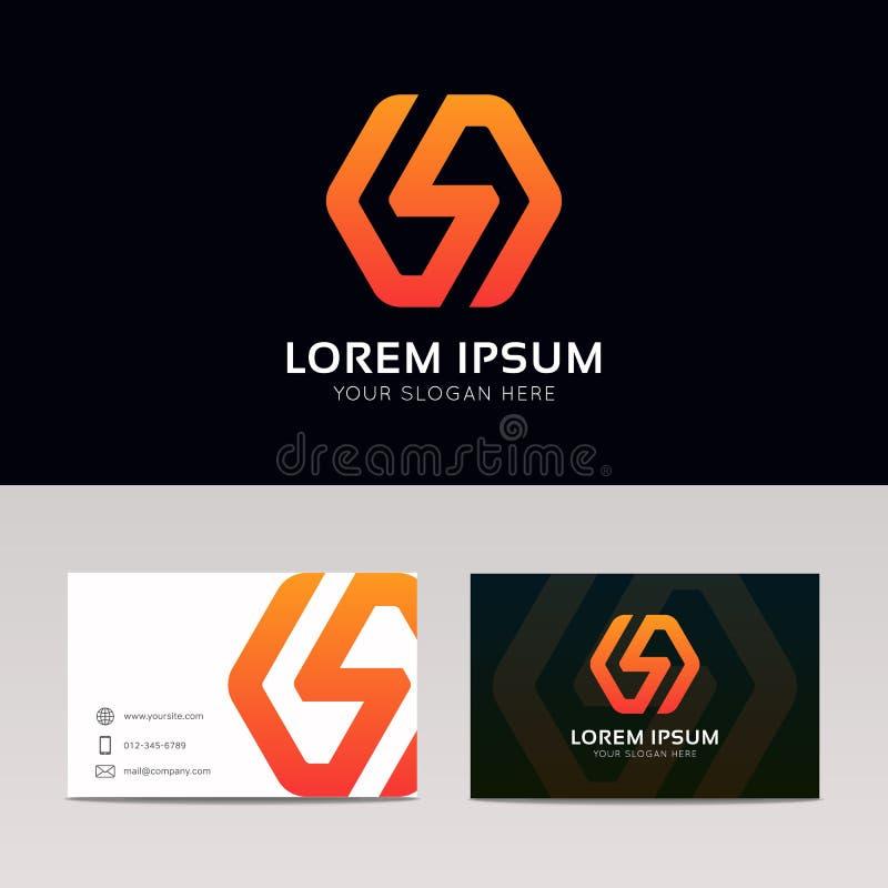 Abstrakt minimalistic symbol ve för logo för symbol för blixtteckenföretag royaltyfri illustrationer