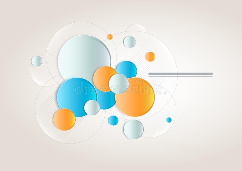 Vektorabstrakt begreppdesign stock illustrationer