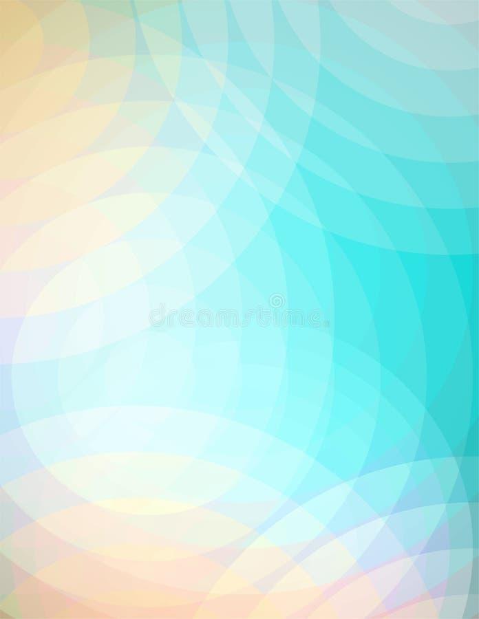 Abstrakt mjuk cirkelbakgrundsillustration vektor illustrationer