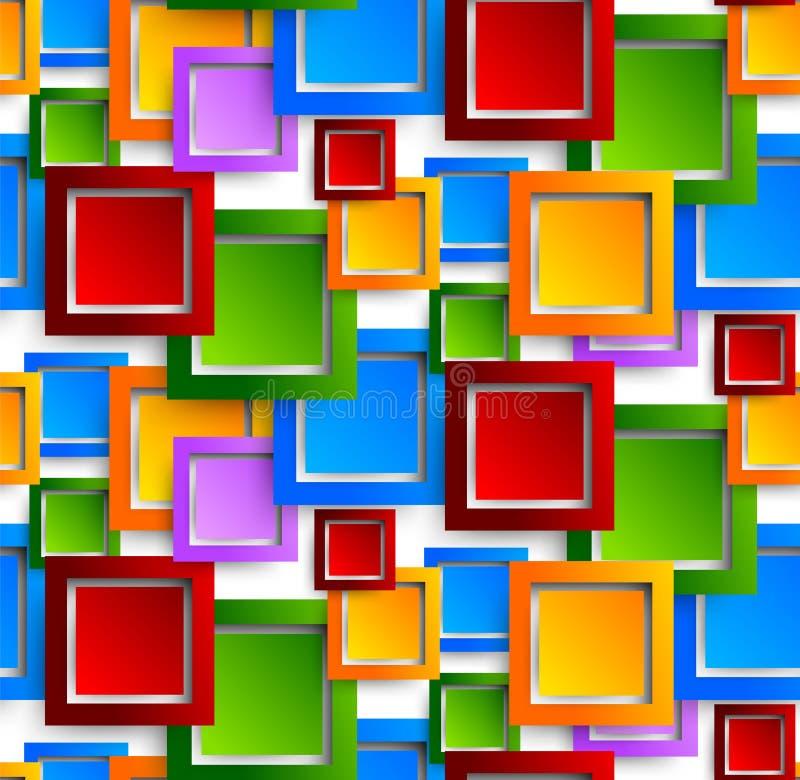 Abstrakt modell vektor illustrationer