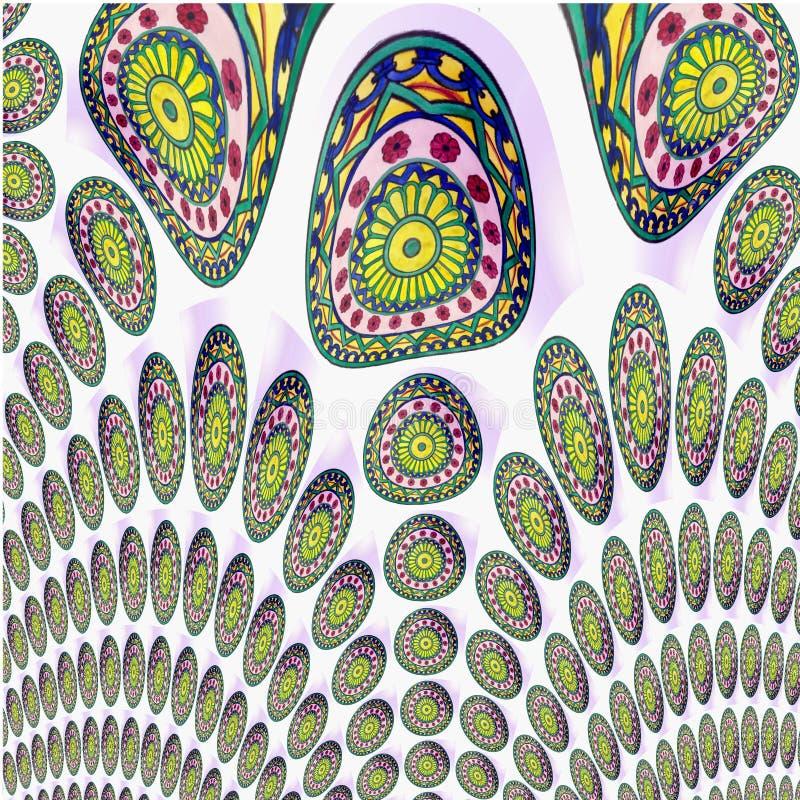 Abstrakt modell av cirklar vektor illustrationer