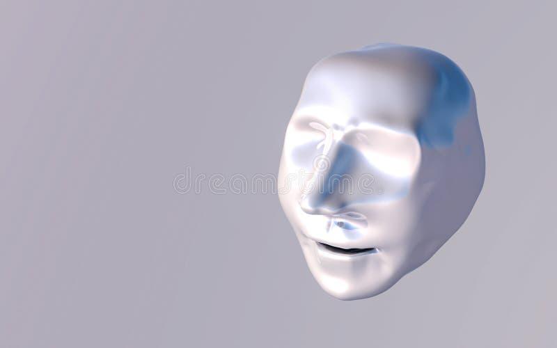 Abstrakt modell av det m?nskliga huvudet framf?rande 3d vektor illustrationer