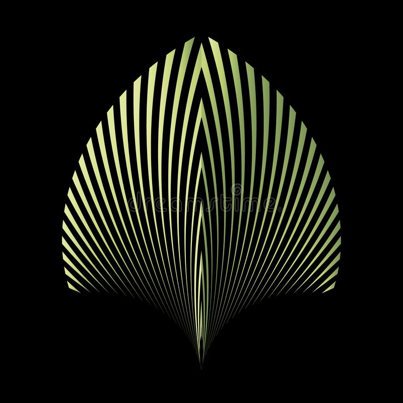 Abstrakt modell av ett växtblad stock illustrationer