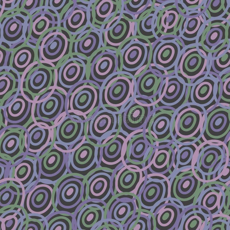 Abstrakt modell för sömlös vektor med purpurfärgade cirklar royaltyfri illustrationer