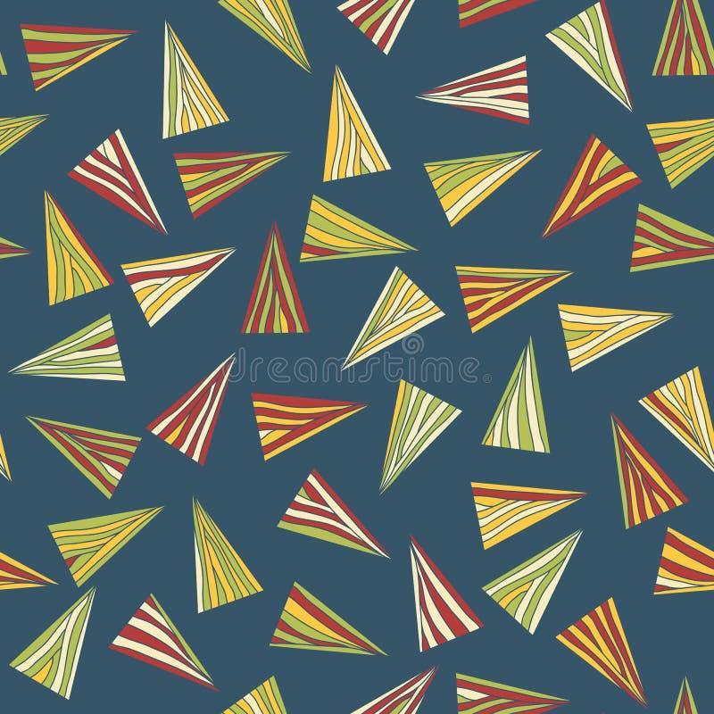 Abstrakt modell med färgrika trianglar seamless stock illustrationer