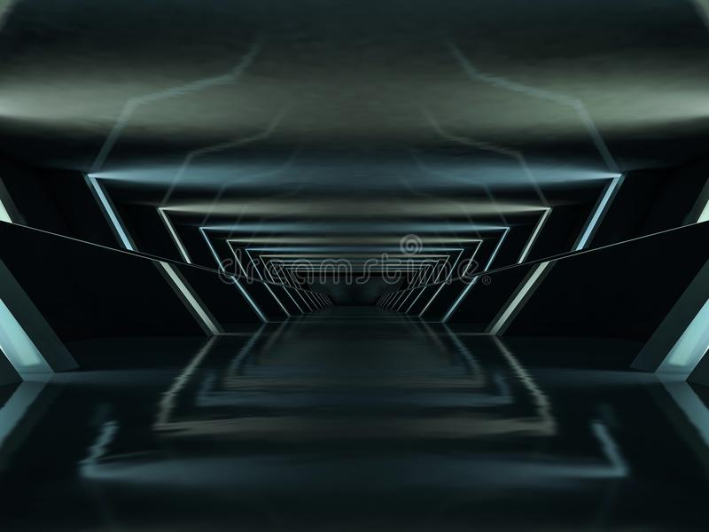 Abstrakt modern arkitekturbakgrund framförande 3d vektor illustrationer