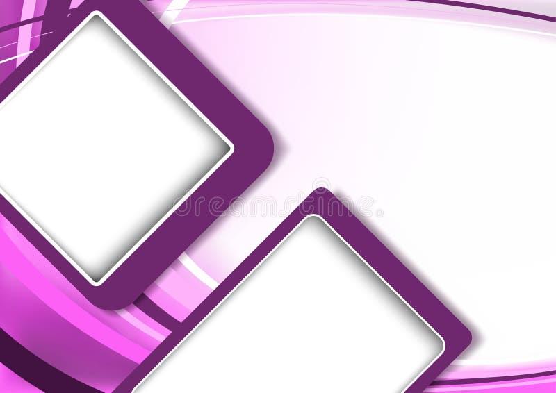 Abstrakt modern bakgrund i purpurfärgade signaler stock illustrationer