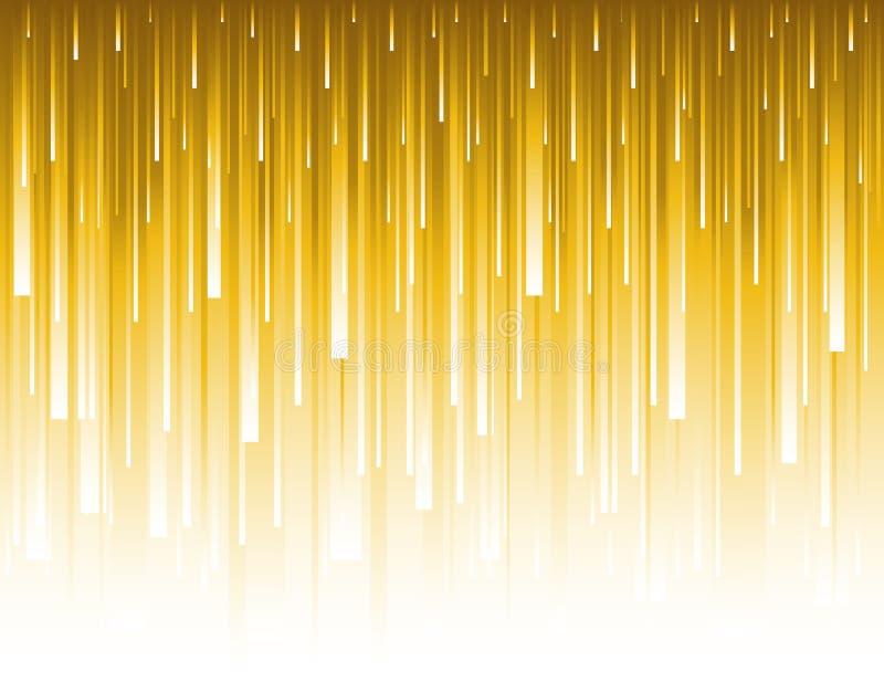 Abstrakt modern bakgrund med guld- blänka vertikala linjer Bakgrunder som komponeras av glödande guld- linjer kan användas för royaltyfri illustrationer