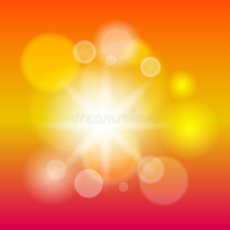 Abstrakt modern defocused ljusbakgrund och lutningtextur Värme den suddiga bakgrunden för färg också vektor för coreldrawillustra stock illustrationer