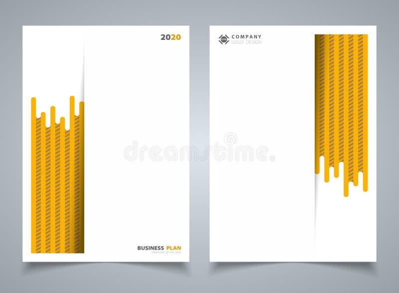 Abstrakt modern gul bandlinje modell av mallbroschyrbakgrund Du kan använda för affärsbroschyren, annonsen, affisch, vektor illustrationer