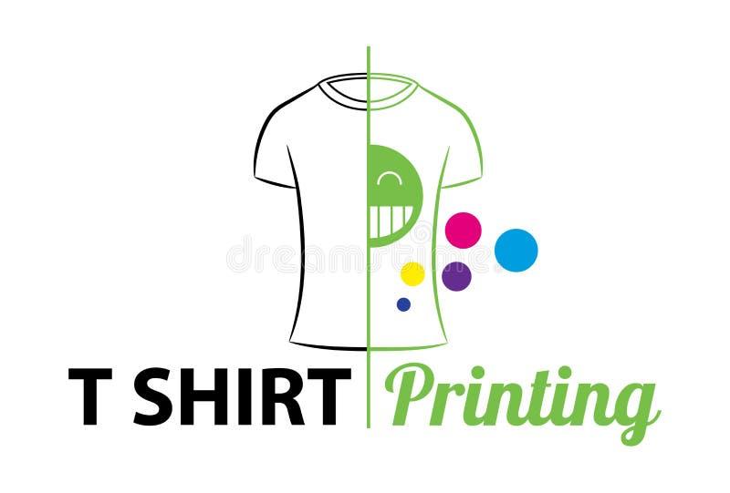 Abstrakt modern kulör vektorlogomall av t-skjorta utskrift För typografi tryck, företags identitet, seminarium som brännmärker, f vektor illustrationer