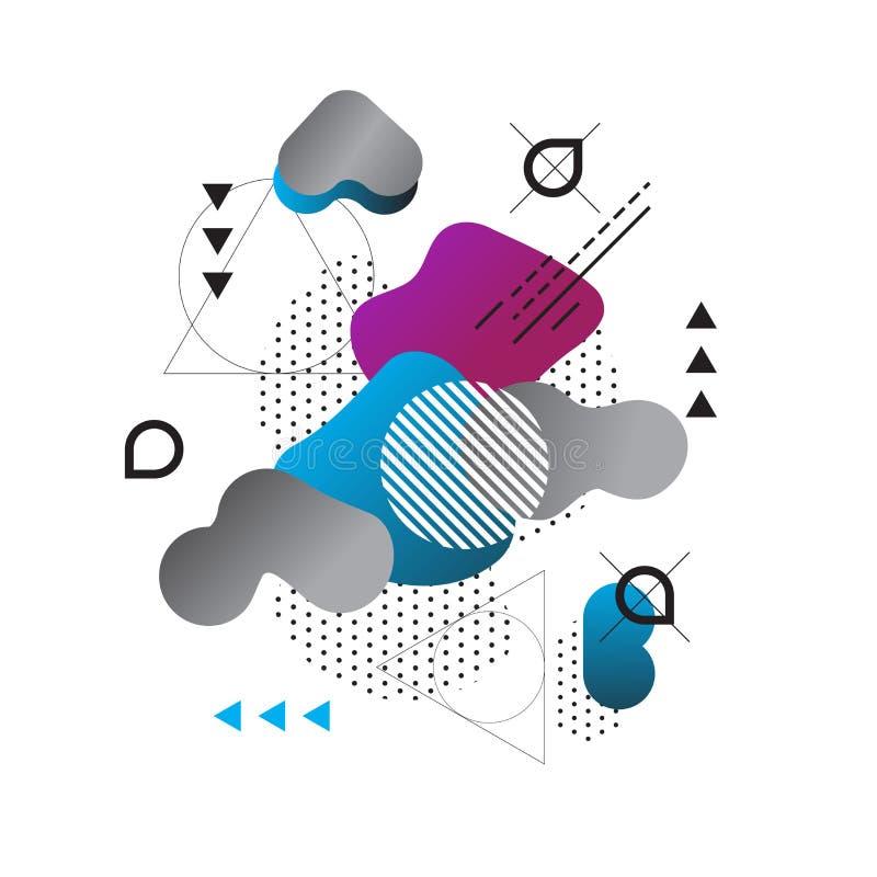 ABSTRAKT MODERN MALLBAKGRUND geometrisk beståndsdel OLIK MODELL vektor illustrationer
