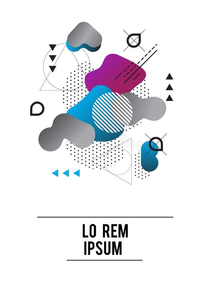 ABSTRAKT MODERN MALLBAKGRUND geometrisk beståndsdel OLIK MODELL stock illustrationer