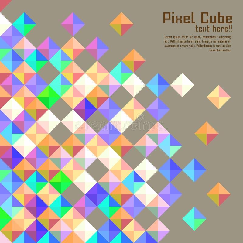 Abstrakt modern PIXELbakgrund royaltyfri illustrationer