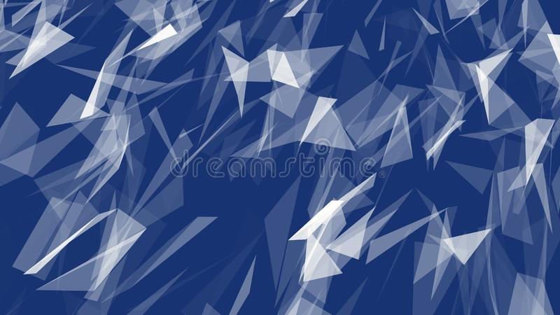 Abstrakt modern Polygonal geometrisk triangelbakgrund royaltyfri illustrationer
