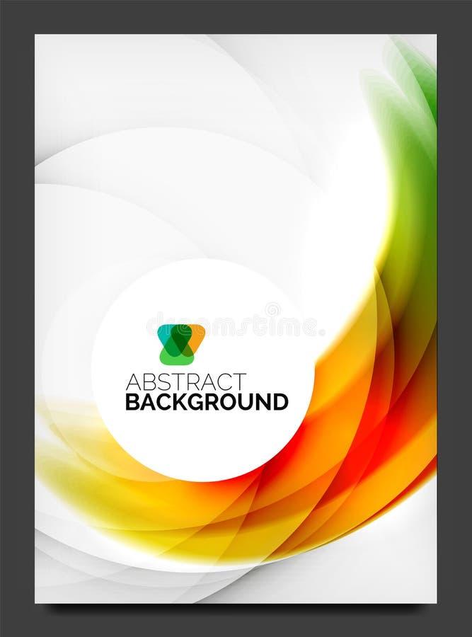 Abstrakt modern reklamblad - broschyrmall vektor illustrationer