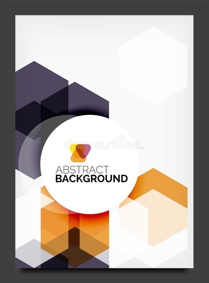 Abstrakt modern reklamblad - broschyrmall stock illustrationer