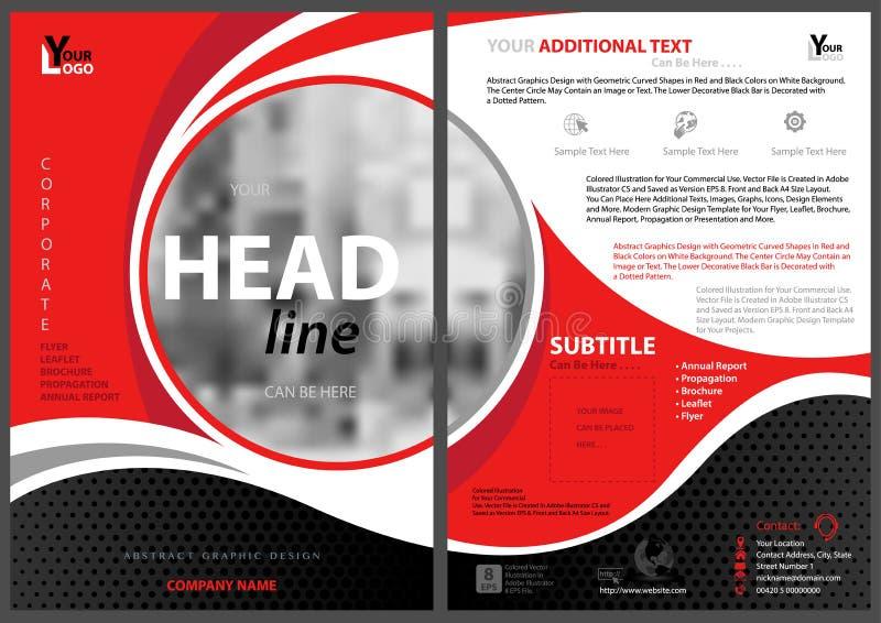 Abstrakt modern reklambladmall med cirkelramen stock illustrationer