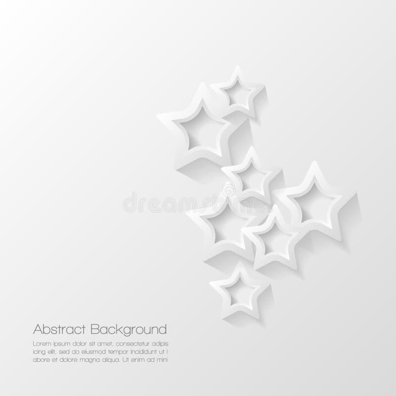 Abstrakt modern stjärnabakgrund royaltyfri illustrationer