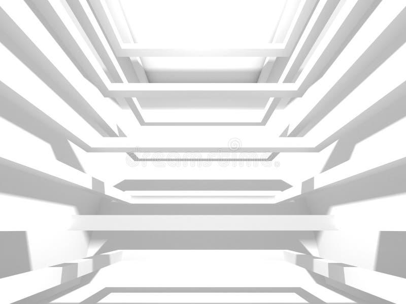 Abstrakt modern vit arkitekturbakgrund royaltyfria bilder