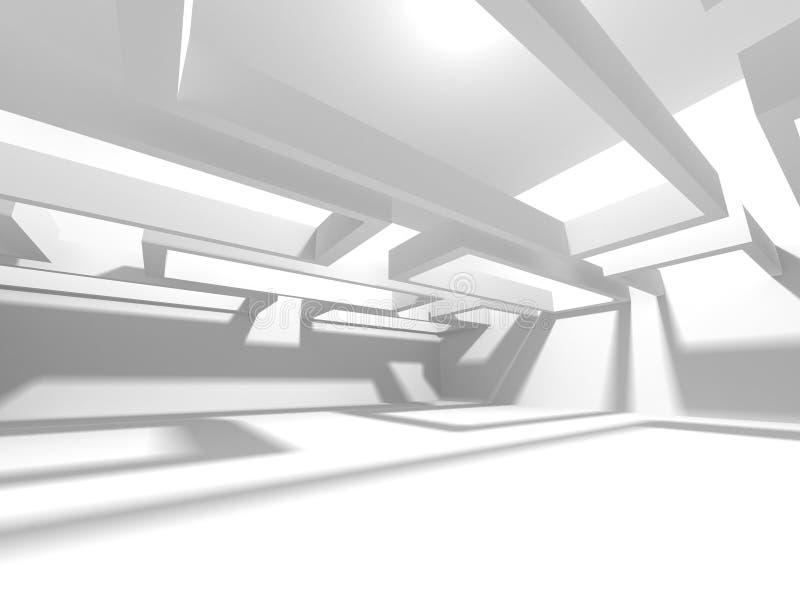 Abstrakt modern vit arkitekturbakgrund arkivfoton