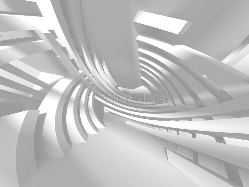 Abstrakt modern vit arkitekturbakgrund royaltyfri illustrationer