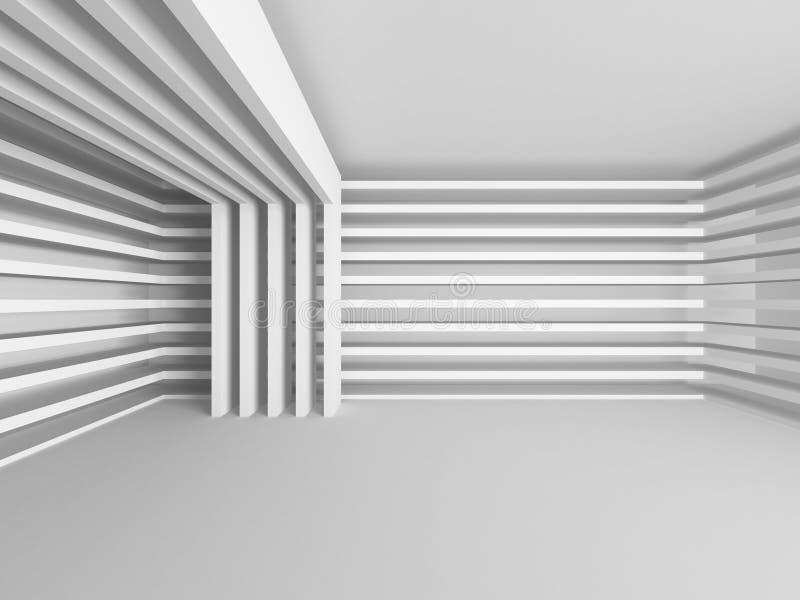 Abstrakt modern vit arkitekturbakgrund royaltyfri bild